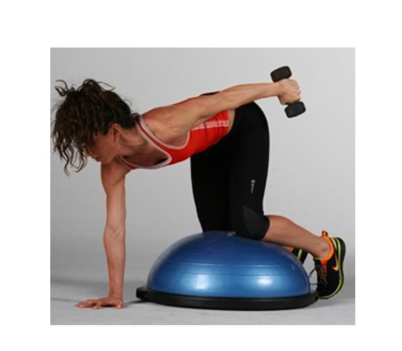 Kneeling Balance Challenge Drill Start